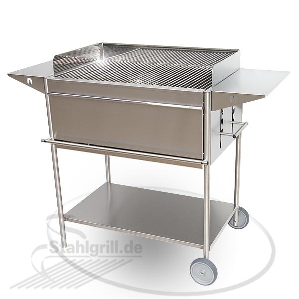 edelstahl grill holzkohlegrill bestseller shop mit top. Black Bedroom Furniture Sets. Home Design Ideas