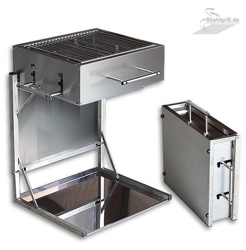 edelstahl camping grill f r holzkohle edelstahlgrill und holzkohlegrill online. Black Bedroom Furniture Sets. Home Design Ideas