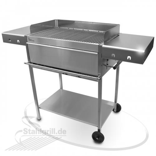 edelstahl grill f r holzkohle edelstar xl comfort edelstahlgrill und. Black Bedroom Furniture Sets. Home Design Ideas